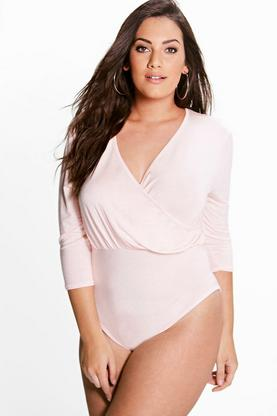 Plus Claudia Wrap Front Bodysuit