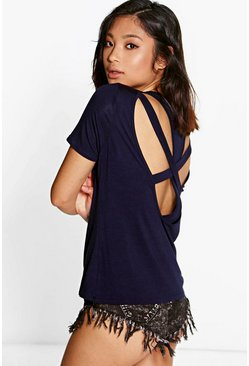 Petite Carly Strappy Back Tee