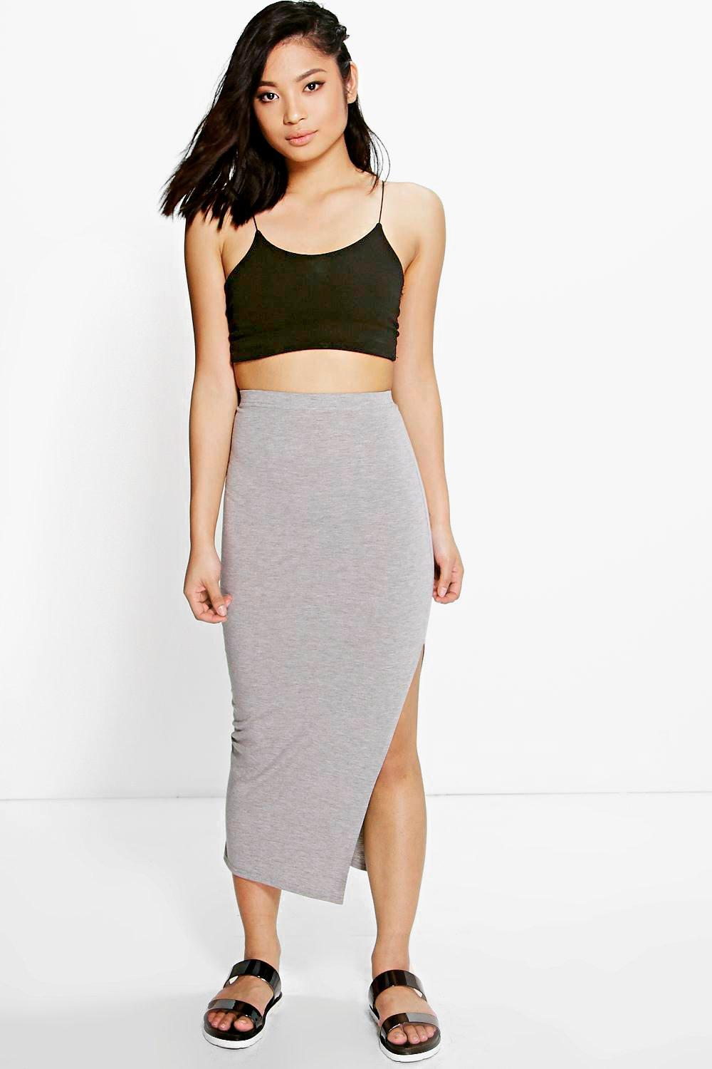 Petite Molly Split Side Midi Skirt