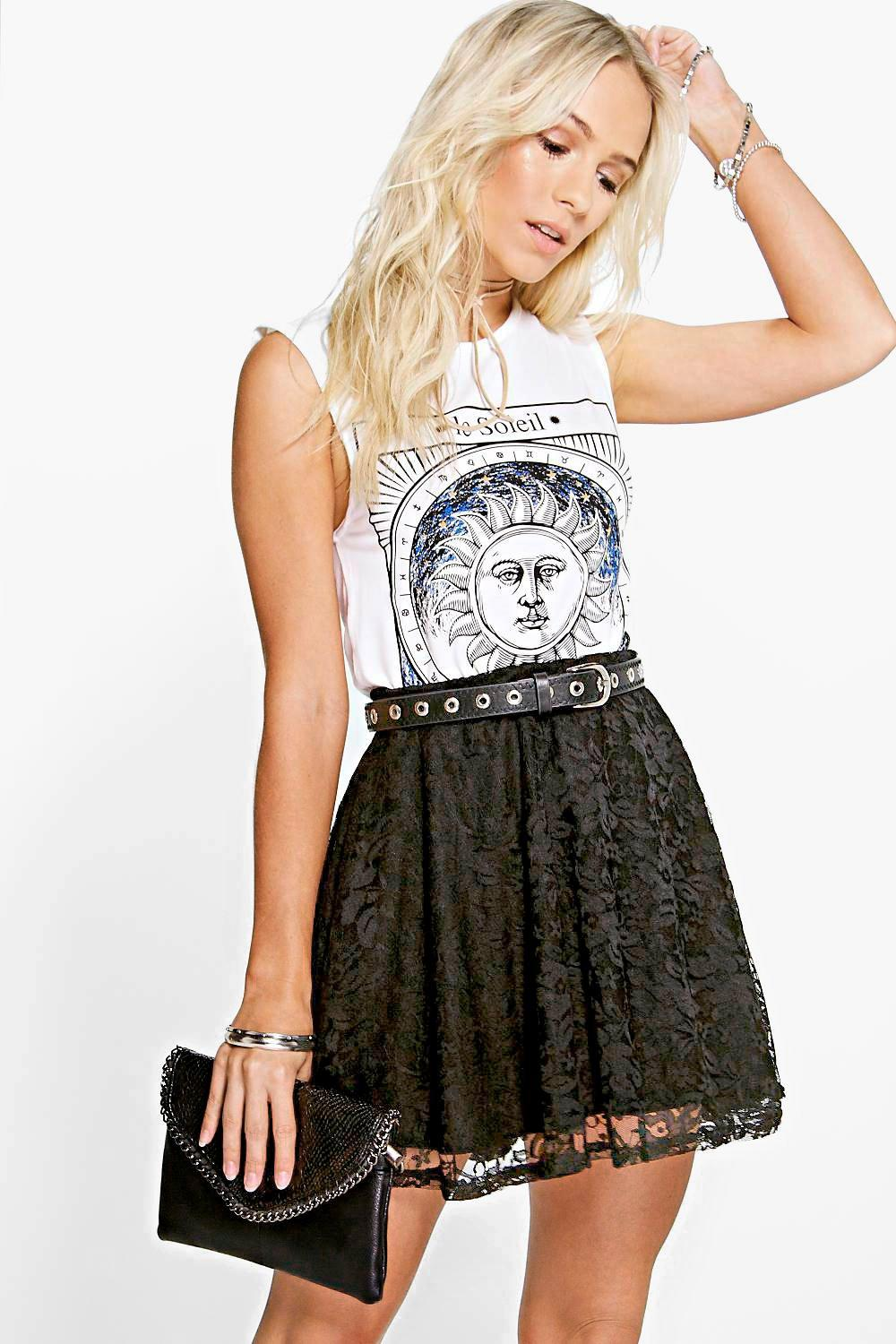 Petite Hayley Lace Skater Skirt