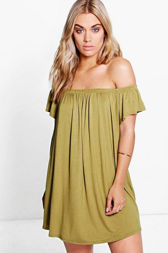 Plus Karina Drape Sleeve Mini Dress