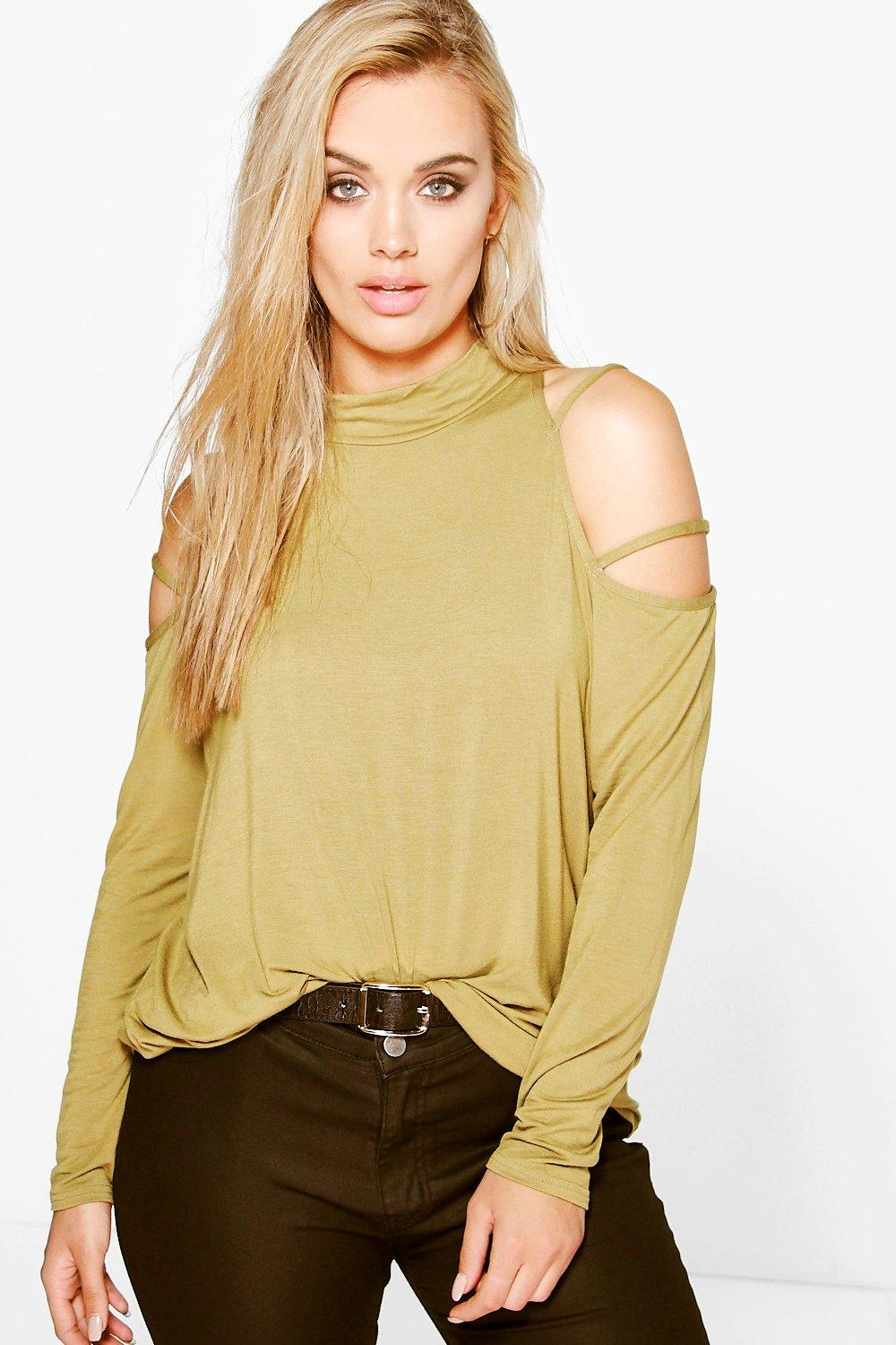 Plus Briony Strappy Cut Out Shoulder Top