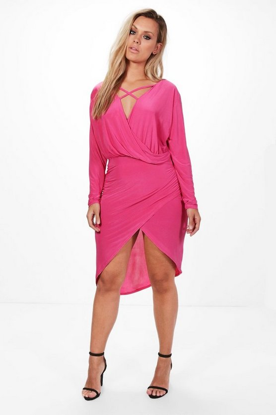 Plus Theresa Strappy Wrap Front Dress