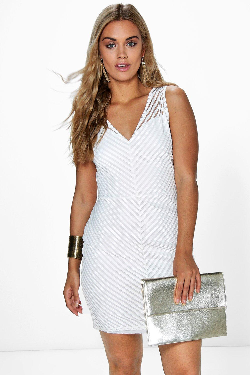 Plus Jasmine Sheer Panel Bodycon Dress