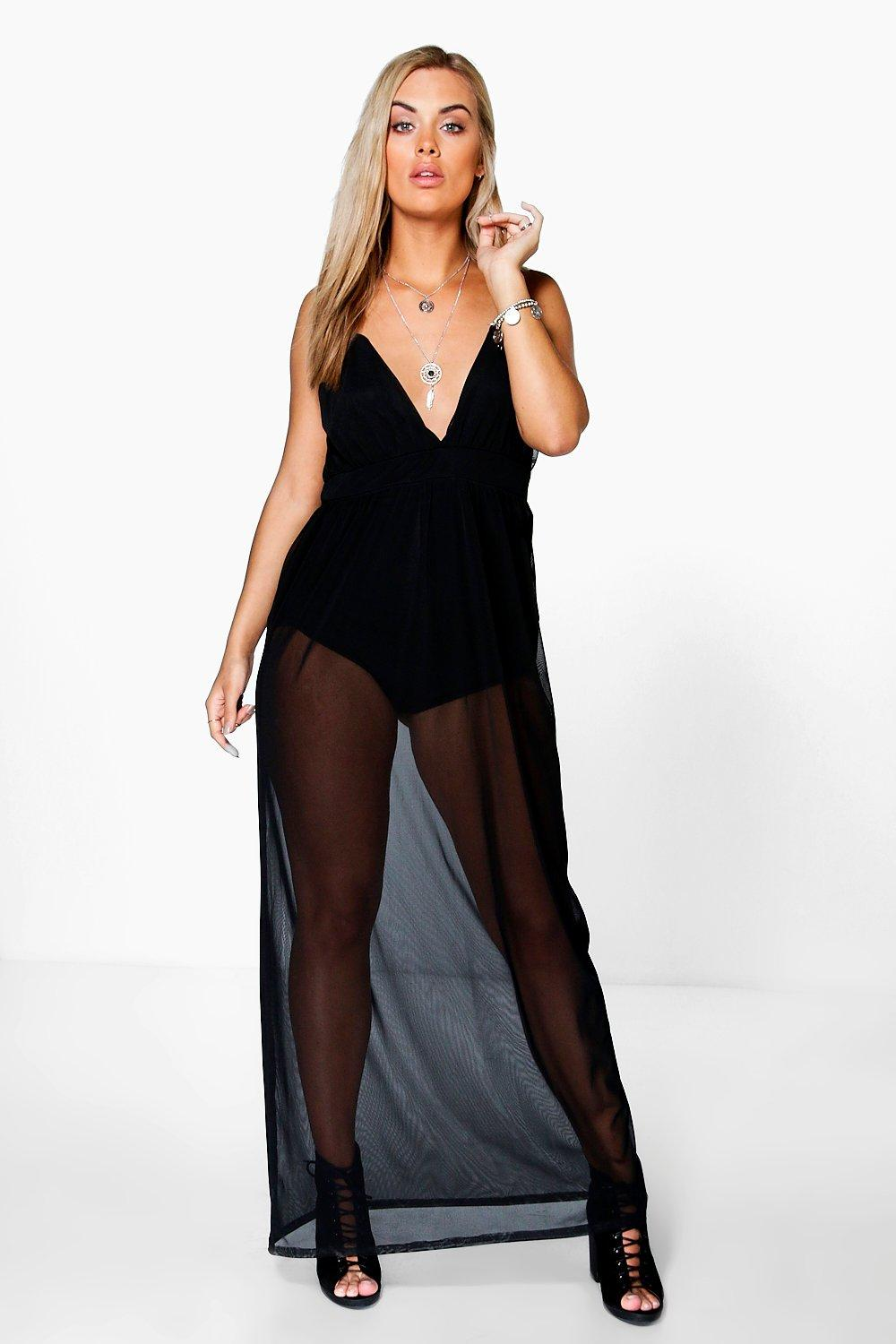 Plus Gabby Sheer Maxi Dress