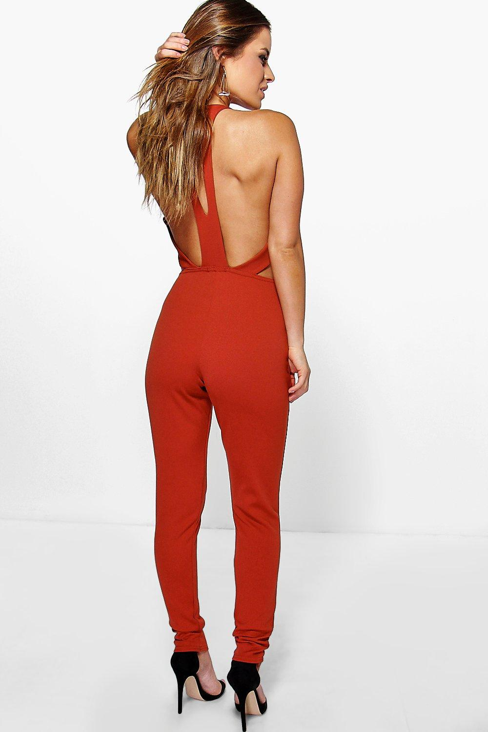 Petite Leena Cut Out Back Jumpsuit