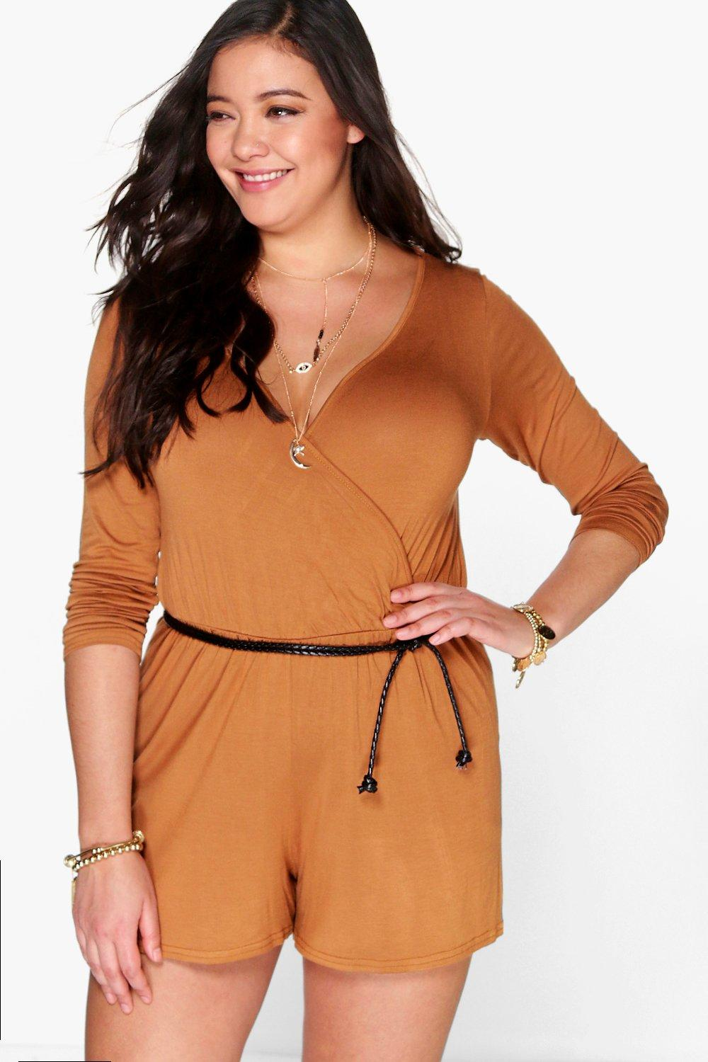 Plus Ainsley Wrap Front Playsuit
