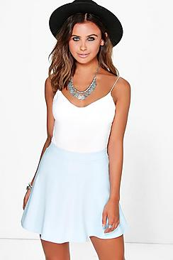 Petite Nancy Colour Pop Skater Skirt