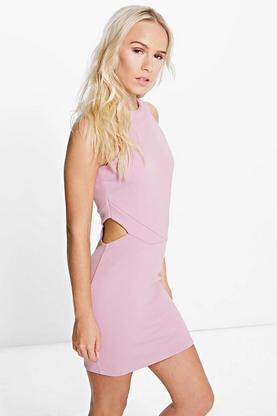Petite Orla Cut Out High Neck Bodycon Dress