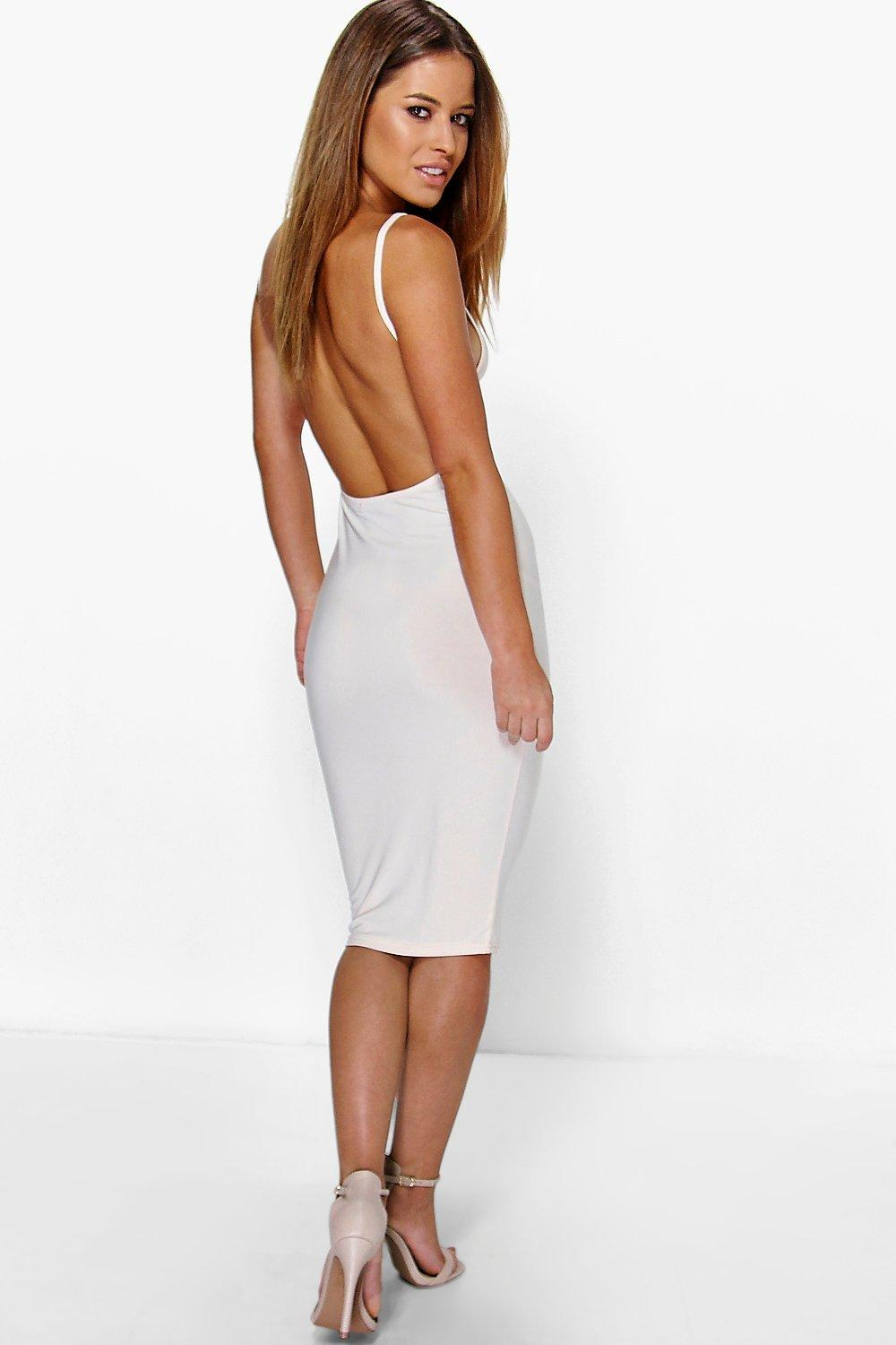Petite Renee Backless Strappy Bodycon Dress