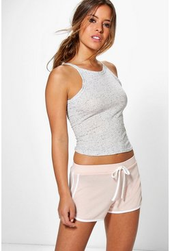 Petite Ally Space Dye Knitted Gym Running Shorts