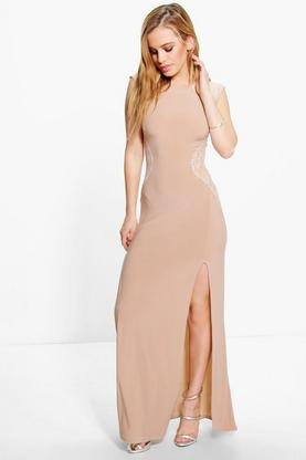 Petite Evie Lace Insert Maxi Dress