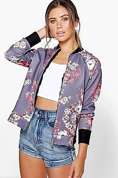 Petite Felicity Floral Bomber Jacket