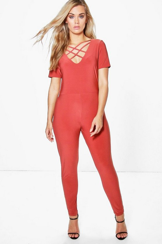 Plus Arianna Strappy Front Jumpsuit
