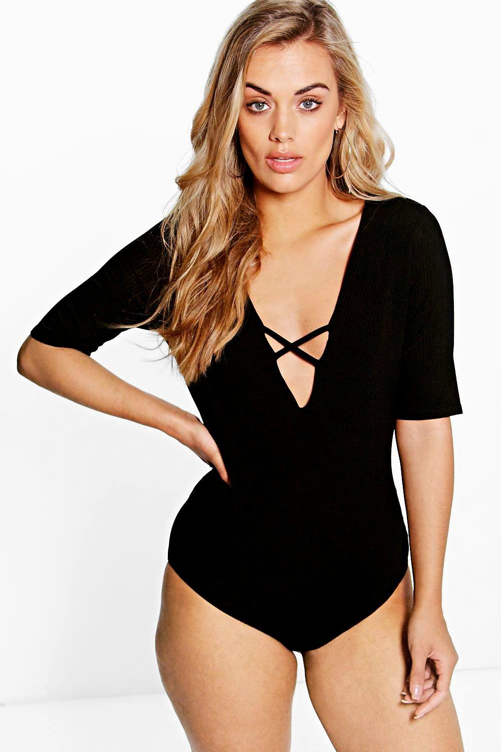 Plus Niamh Strappy Rib Bodysuit