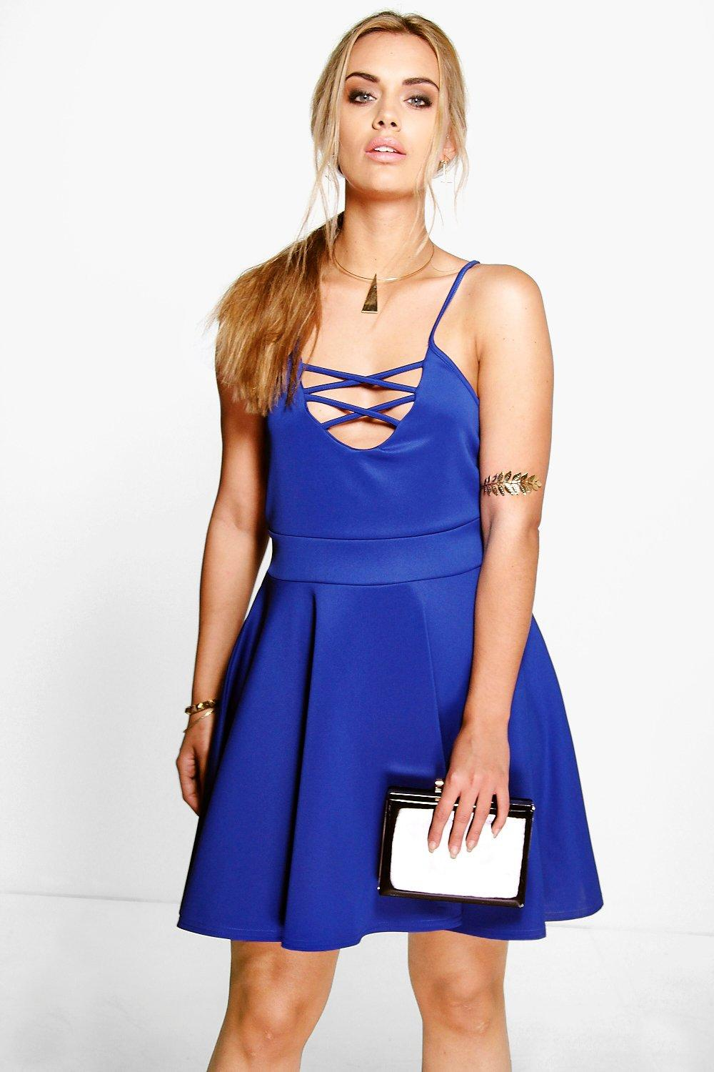 Plus Sinead Lace Up Skater Dress