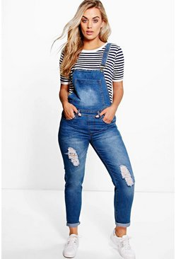Plus Lottie Denim Dungaree