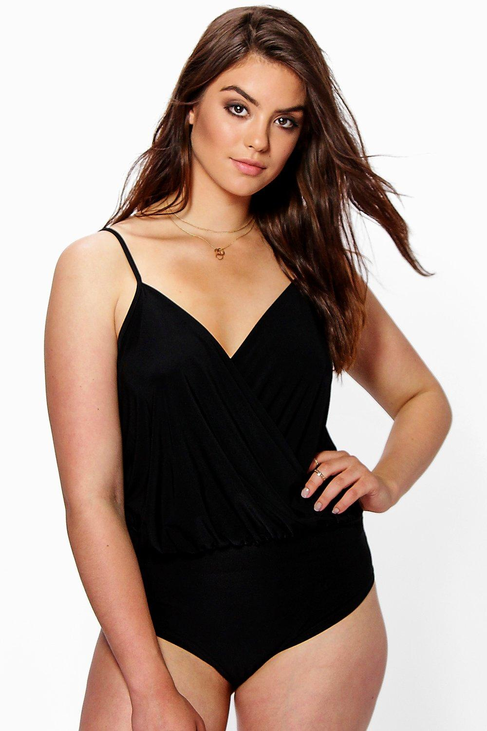 Plus Leanne Slinky Strappy Bodysuit