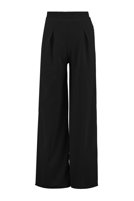 6360c04e05f3 Boohoo-Womens-Petite-Millie-Wide-Leg-Pleat-Trouser thumbnail