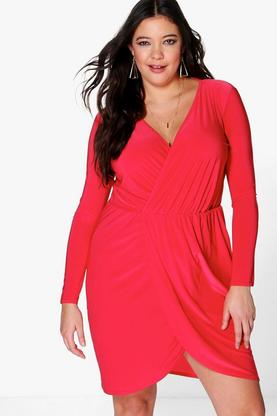 Plus Leah Slinky Wrap Dress
