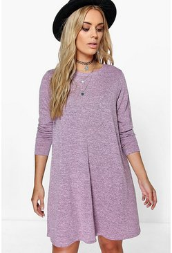 Plus Violet Swing Dress
