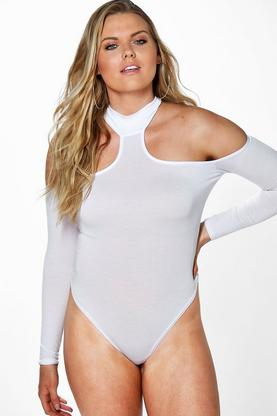 Plus Frankie Open Shoulder Bodysuit