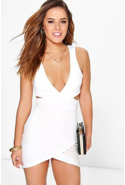 Petite Nancy Cut Out Mini Bodycon Dress