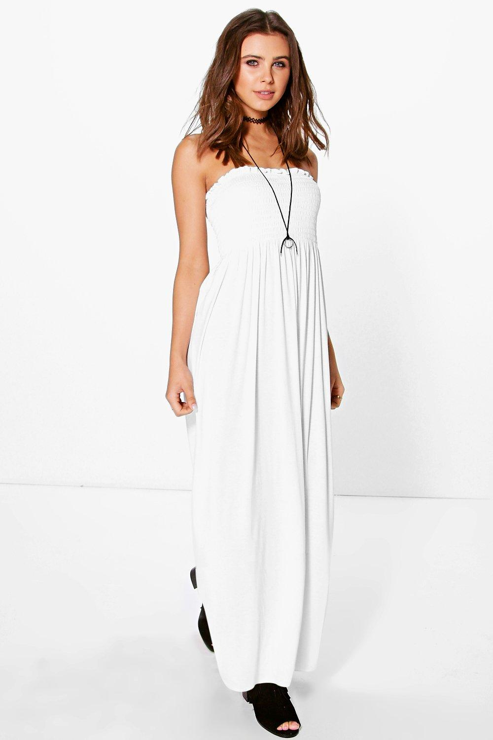 Shirred maxi dress australia