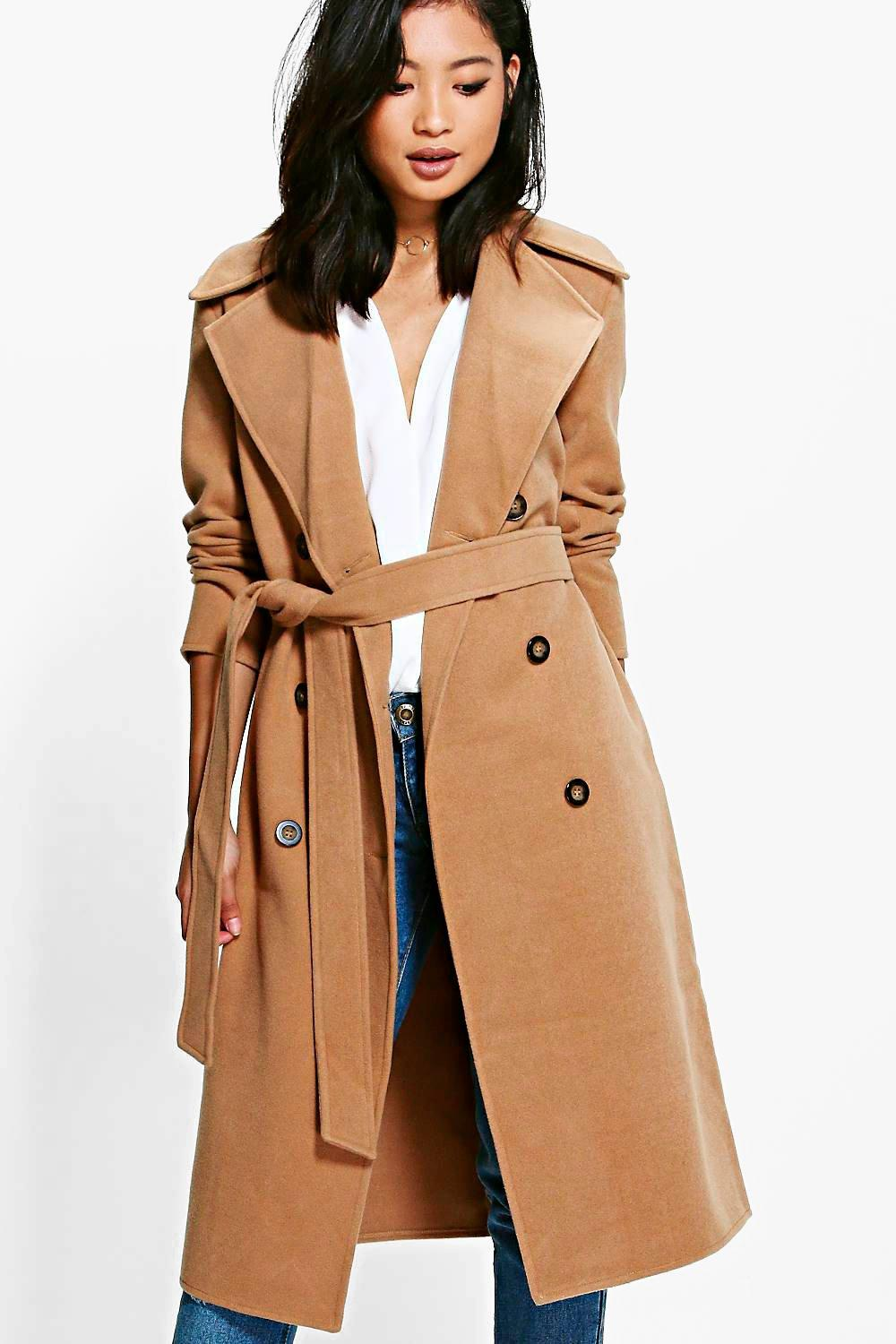 Petite Belted Wool Coat | Down Coat