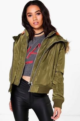 Petite Grace Double Layer MA1 Bomber Jacket