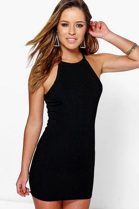 Petite Ruby Ribbed Bodycon Dress