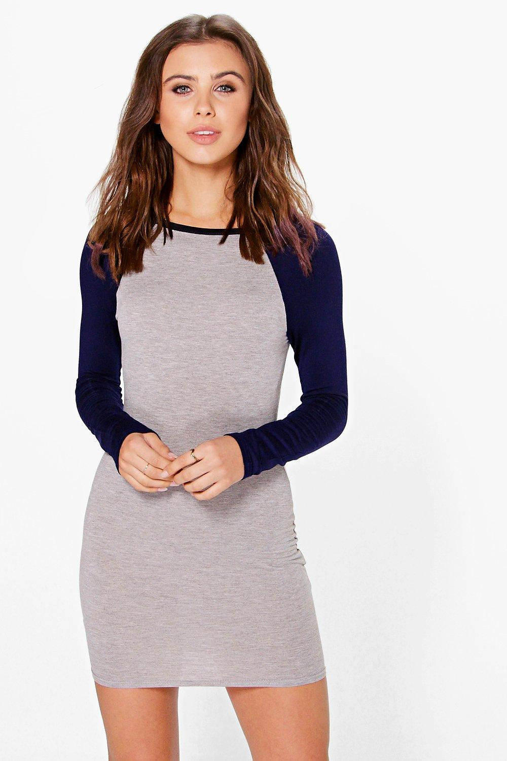 Petite Darcy Raglan Sleeve Bodycon Dress
