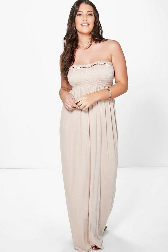 Plus Alexis Shirred Maxi Dress