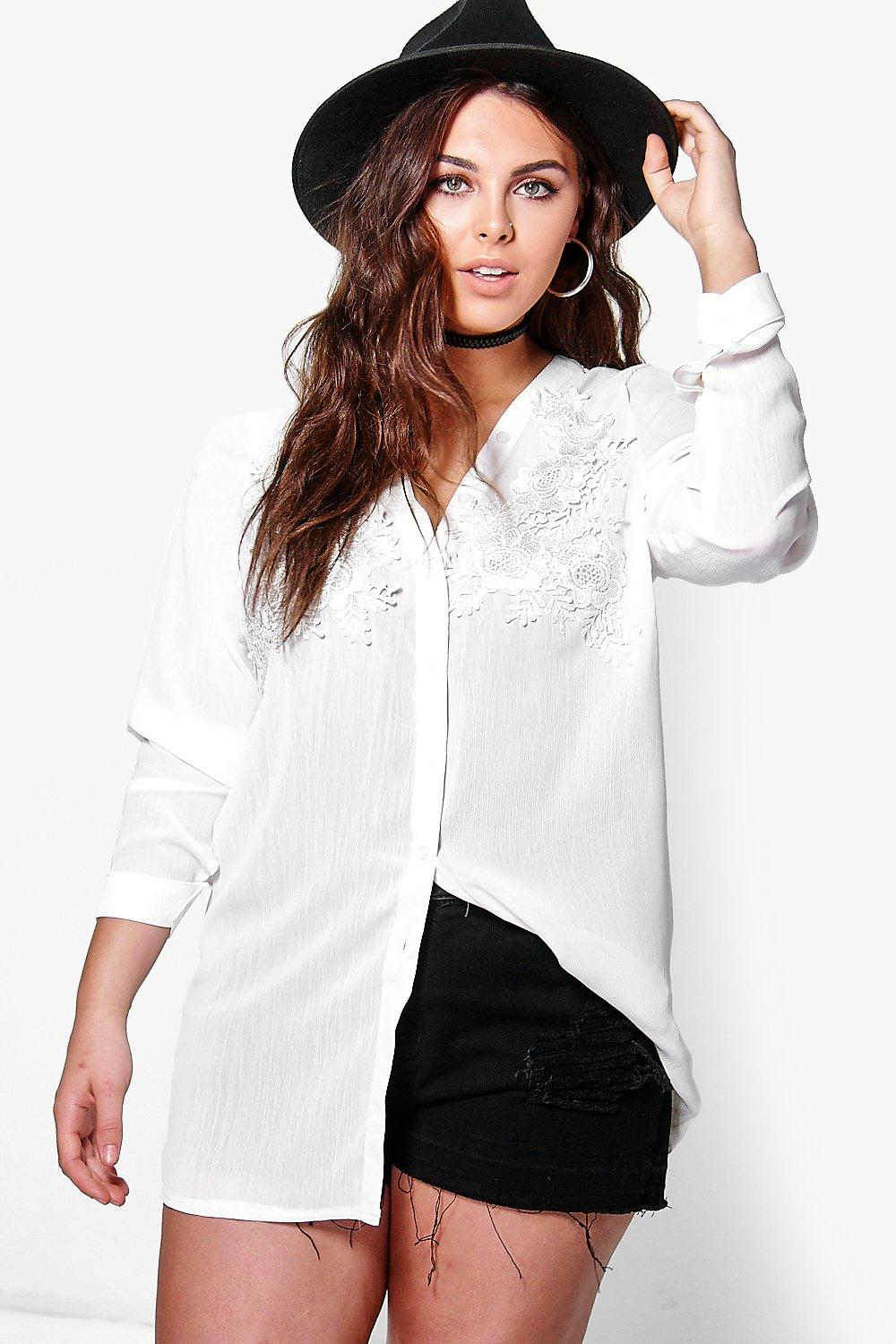 Plus Lara Lace Detail Shirt