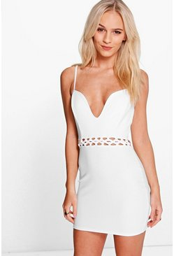 Petite Stacey Strappy Waist Detail Bodycon Dress