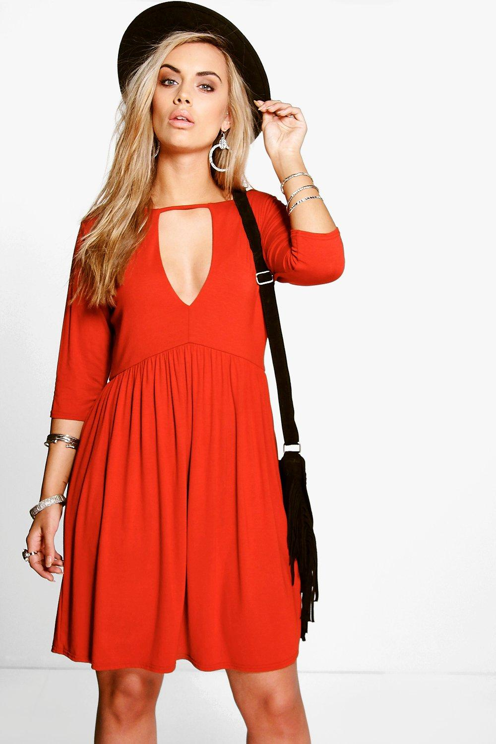 Plus Valerie V Neck Swing Dress