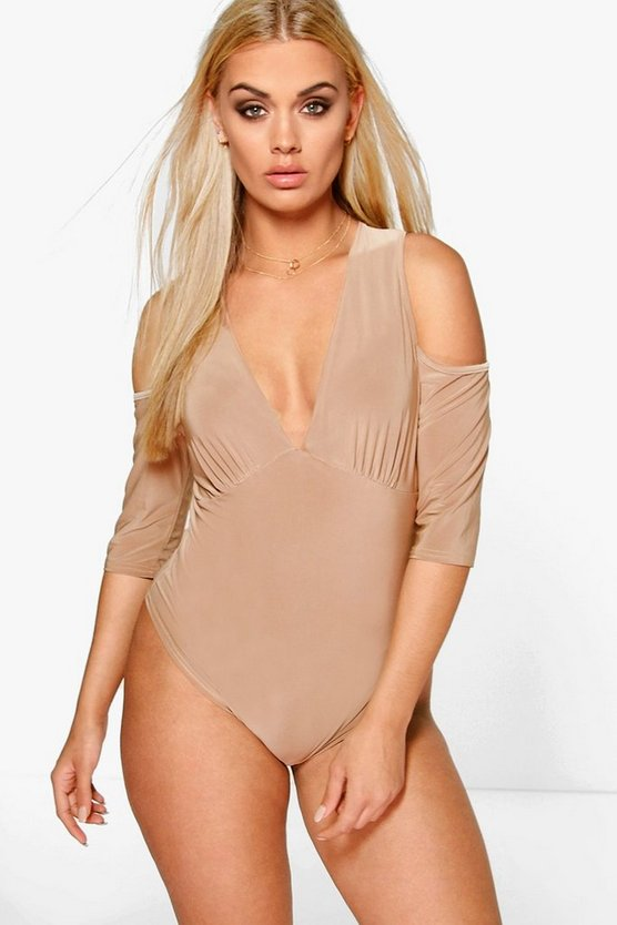 Plus Natalia Slinky Open Shoulder Bodysuit
