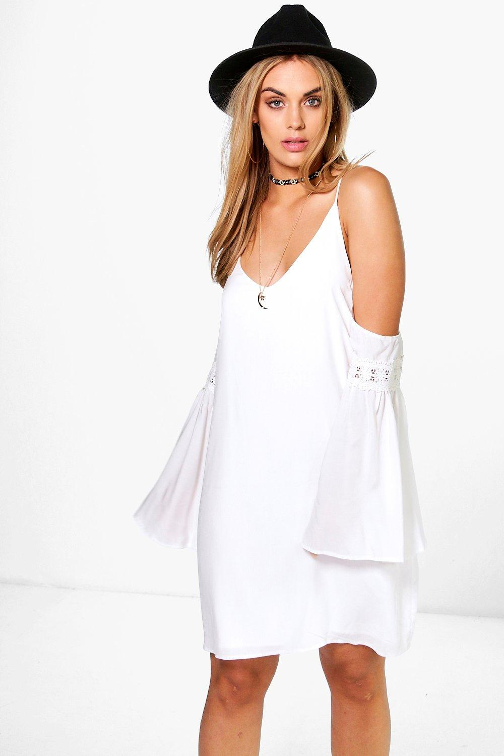Plus Steph Strappy Open Shoulder Dress