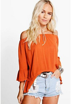 Petite Alice Woven Off The Shoulder Top