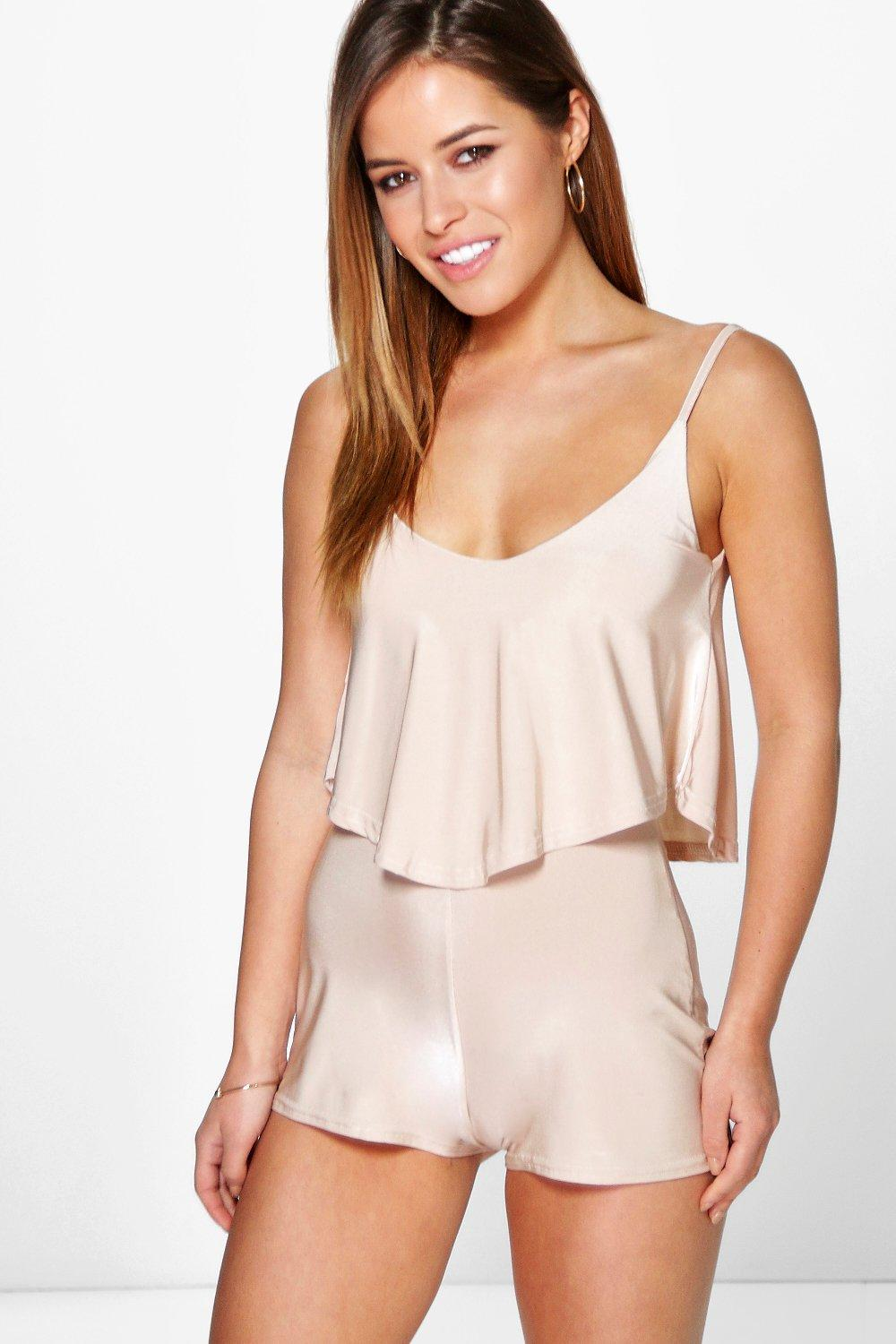 Petite Lilly Double Layer Strappy Playsuit