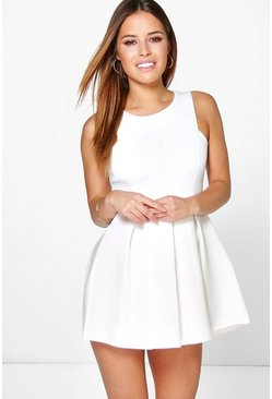 Petite Georgia Pleated Skater Dress