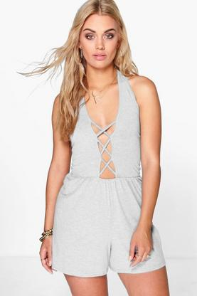 Plus Holly Cross Front Playsuit