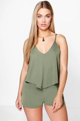 Plus Stephanie Double Layer Playsuit