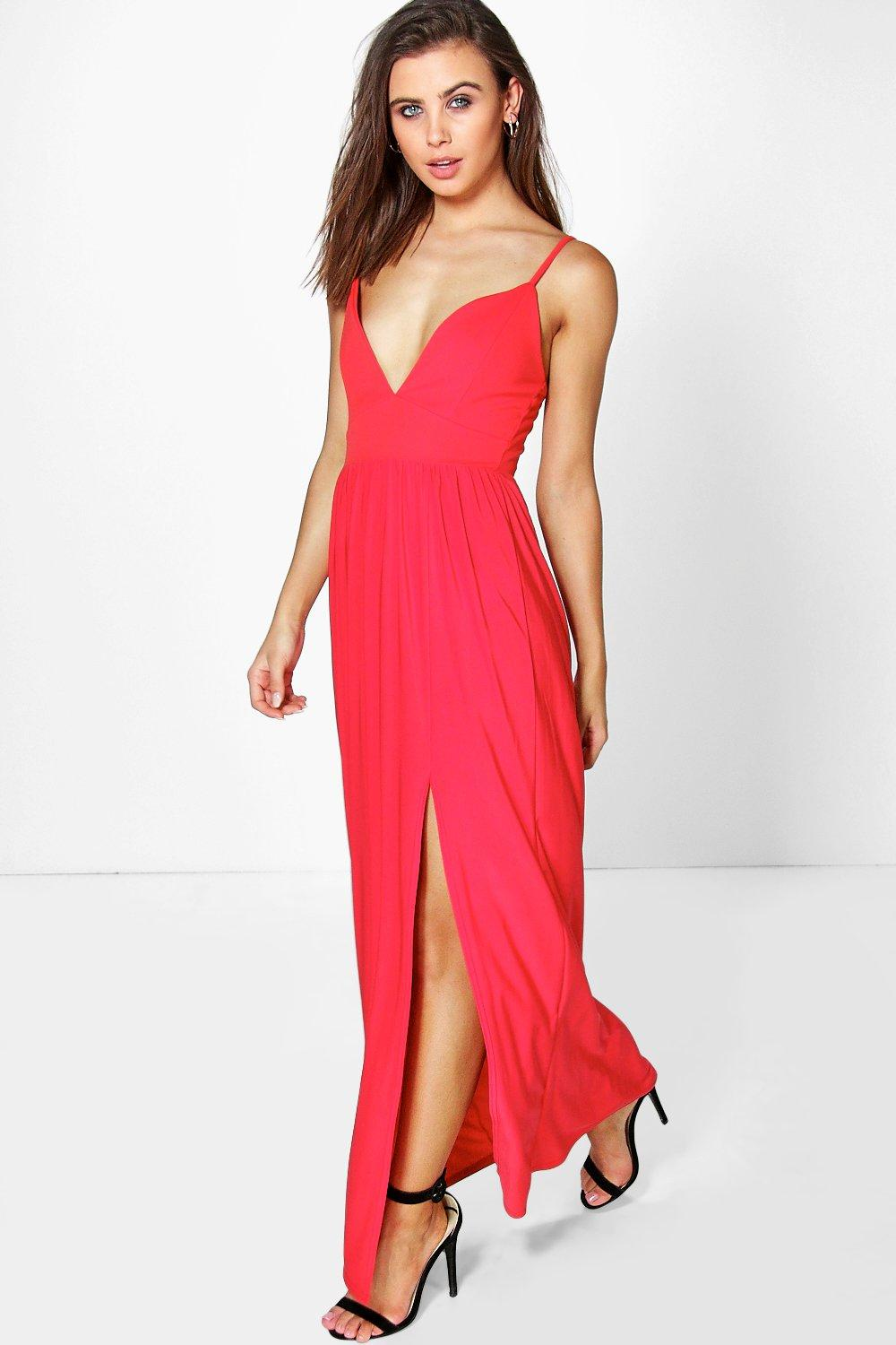 Petite Lara Strappy Split Maxi Dress
