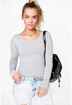 Plus Elle Round Neck Long Sleeve Top