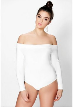 Plus Kate Slinky Bardot Bodysuit