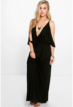 Plus Amy Ruffle Wrap Front Maxi Dress
