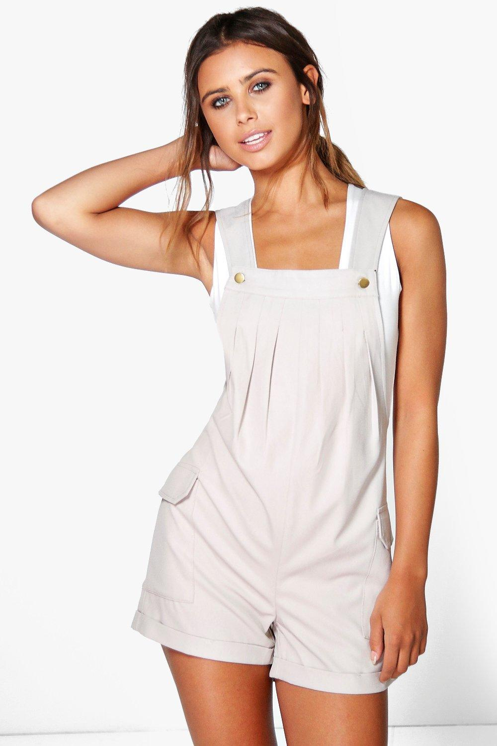 Donna Utility Pocket Side Dungaree taupe