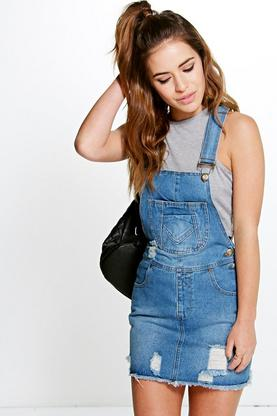 Petite Sophie Denim Pinafore Dress