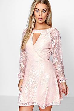 Plus Emily Lace Skater Dress